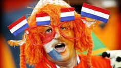 When the national soccer team plays, oranje is the national color of the Netherlands, like the lastname of the King.