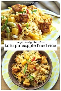 Super easy and delicious pineapple fried rice! Vegan and gluten-free