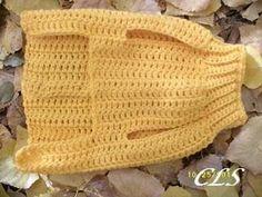 Crochet Step In Dog Sweater xxS to xxxL pattern de Copper Llama Studio # Crochet Dog Sweater Free Pattern, Crochet Dog Patterns, Knit Dog Sweater, Sweater Patterns, Pdf Patterns, Large Dog Sweaters, Cat Sweaters, Crochet Dog Clothes, Pet Clothes