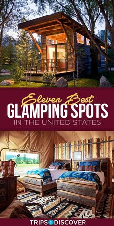 11 of The Best Glamping Sites in The United States For a Different Kind of Weekend Getaway - - Glamping is ideal for adventurers who have a love for the rugged outdoors but don't want to sacrifice on their modern conveniences. The Places Youll Go, Cool Places To Visit, Places To Go, Vacations In The Us, Best Vacations, Family Vacations, Midwest Vacations, Disney Vacations, Family Travel