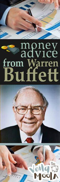 Money Advice from Warren Buffett - Voila Moola| Waren Buffett, Warren Buffett Money Advice, Money Advice, Financial Advice, Save Money, How to Save Money, Popular Pin #Money #MoneyAdvice #SaveMoney