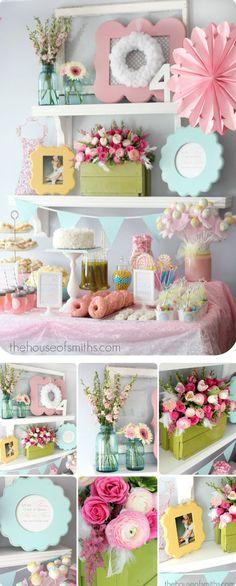 παρτυ για κοριτσια-μικρες μπαλαρινες-Γενέθλια 9th Birthday, Birthday Parties, Gender Party, Pink Wedding Theme, Ideas Para Fiestas, Dessert Table, Pretty In Pink, Tea Party, Bridal Shower
