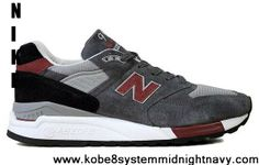 Star's favorite New Balance NB M998GR Made in USA Grey Black Red For Men shoes Fashion Shoes Shop