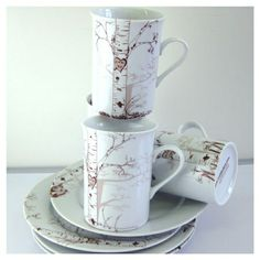 Birch Dessert Set. So pretty! I like the one in Blue (not pictured)