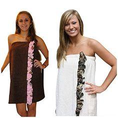 8926dd86f9 Realtree Cover-up Spa Wrap, Womens Plus Size Camo Beach Towel Bath Wrap  Price
