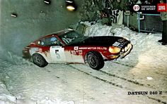1972 MONTE CARLO RALLY - Datsun 240Z. Drivers: Rauno Aaltonen / Jean Todt. Place: 3rd o/.a.