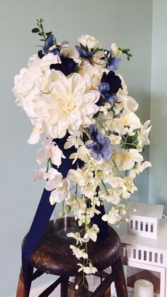 A personal favorite from my Etsy shop https://www.etsy.com/listing/292541559/romantic-spring-cascading-white-and-blue