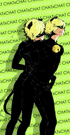Chat x Chat omg (by greenyswolf) (Miraculous Ladybug, Chat Noir, Copycat)