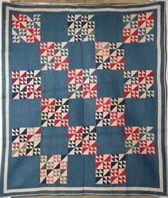Antique Handmade Quilt in Mint Condition Circa 1890 Swallow's Flight, DD's Quilts, Antiques and Collectibles, Ruby Lane