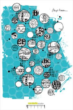 Cling Stamp XXL : Background with Circles by Birgit Koopsen - Carabelle Studio