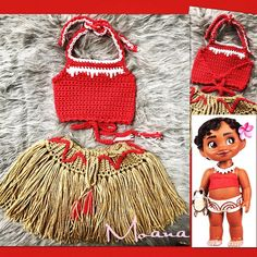 """2 Likes, 3 Comments - JIEZI GARCIA (@tulips_of_yarn) on Instagram: """"Photo-Props - Baby Moana """" outfit"""""""
