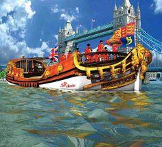 """""""Gloriana"""" Aka """"Spirit of Chartwell"""" - 88ft Barge : HM Queen Elizabeth II Diamond Jubilee 2012!"""