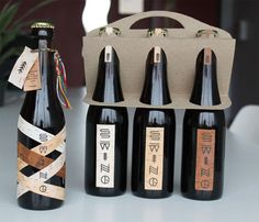 Beautiful packaging for a brand new brewery