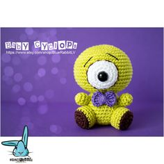 Baby Cyclops - amigurumi crochet pattern -  https://www.etsy.com/ru/listing/498876420/baby-cyclops-amigurumi-crochet-pattern