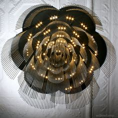 Chandelier for the bar... The Rose, Portland OR