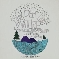 Look deep into nature and you will understand everything better. -Albert Einstein