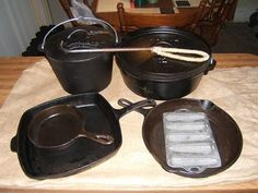 Excellent guide to using and caring for cast iron cookware with pictures.  Make sure to read the comments at the bottom where he explains an easier way to get rid of rust by putting the pan in a campfire to burn off rust.