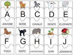 Educação.com - Professores online.: quebra-cabeça do alfabeto.