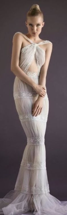 Dress, Lace: Paolo Sebastian Couture Collection