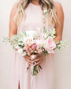 "642 Likes, 7 Comments - Mumu Weddings (@mumuweddings) on Instagram: ""Dusty Blush Heather Halter with pretty blooms to match 🌸💘 #mumuweddings @valoriedarling"""