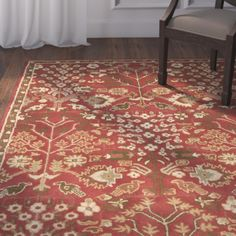 Found it at Joss & Main - Nessa Red Oriental Wool Hand-Tufted Area Rug