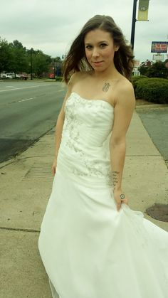 Ivory, Organza Gown