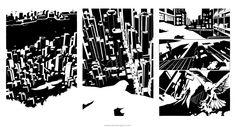 Ink Narratives: city setting establishing scene by Pencil Illustration, Underworld, Comic Artist, Illustrators, Novels, Scene, Ink, Comics, Drawings