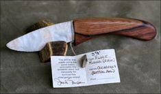 flint ridge OH cocabolla Central Am handle flintknapped knives blades knife