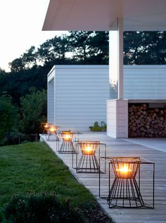 Steel fire baskets BOO | Open outdoor fireplace Boo Collection by Skargaarden | design Martin Kallin