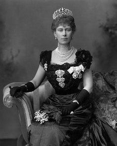 Queen Mary, wife of George the 5th. Even in mourning clothes, she looked beautiful