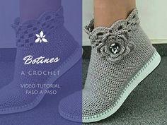 Tutorial #111: Botines Grises a Crochet #ctejidas http://blgs.co/23KE78