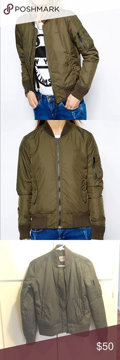 Schott NYC Lightweight Bomber Jacket Excellent condition! Worn twice. Great lightweight jacket for in between seasons. Asos Jackets & Coats Utility Jackets