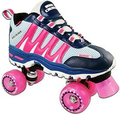 Children's Roller Skates - Pacer Pink Sonic Cruiser Outdoor Quad Sneaker Roller Skates -- Read more reviews of the product by visiting the link on the image.