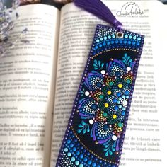 Books are never out of vougue and reading is cool again. Bookmark handpainted in mandala style on genuine leather. Great gift for book lovers bookmarks mandala Updates from ClaudiaAelenei on Etsy Mandala Artwork, Mandala Drawing, Mandala Painting, Mandala Dots, Mandala Pattern, Mandala Design, Creative Bookmarks, Diy Bookmarks, Dot Art Painting