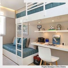 The most fun sleepover or shared young sibling bedroom furniture in t… Bunk beds! The most fun sleepover or shared young sibling bedroom furniture in the world and there are some really spectacular designs right now! Bunk Bed Designs, Girl Bedroom Designs, Room Ideas Bedroom, Bedroom Furniture, Furniture Design, Bedroom Decor, Design Desk, Furniture Removal, Luxury Furniture