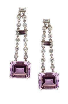 Gumuchian 'one of a kind' diamond & amethyst earrings