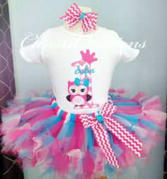 OwlBaby Girl 1st Birthday Shirt and Petti Tutu by ChristiCreations, $75.95