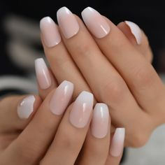 Acrylic Nail Tips, Gel Nail Art, Gel Nails, Manicure, Fake Nails French, Ombre French Nails, Nude Nails, White Nails, Faux Ongles Gel