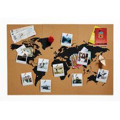 Carte mappemonde en liège - Pour afficher ses plus beaux souvenirs de voyage - 34,95 €
