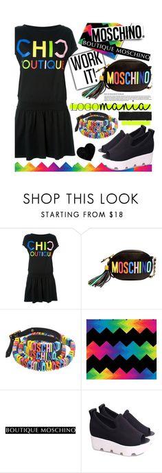 """Moschino Logomania"" by maranella ❤ liked on Polyvore featuring Boutique Moschino, Moschino and logomania"