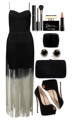 """""""Untitled #3471"""" by natalyasidunova ❤ liked on Polyvore featuring Rare London, Giuseppe Zanotti, Sergio Rossi, Kate Spade, Alexander McQueen, Chanel, MAC Cosmetics and Dolce&Gabbana"""