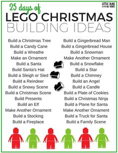 Check out our free printable countdown calendar for your LEGO Christmas countdown! A fun list of Christmas themed STEM challenges for kids! Countdown Calendar, Kids Calendar, Calendar Printable, Advent Calendar, Stem For Kids, Science For Kids, Lego Christmas, Christmas Crafts, Christmas Stuff