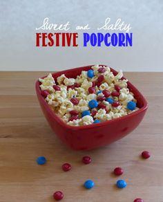 Sweet and Salty Patriotic Popcorn #prettypintasticfeature