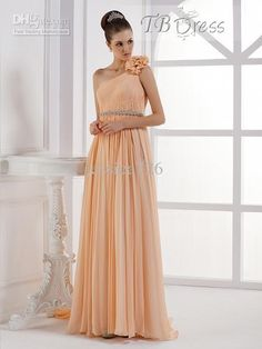 Wholesale 2013 Modern Column Formal Bridesmaid Dresses One Shoudler Ruffles Floor Length Formal Party Gowns, Free shipping, $89.6-108.64/Piece   DHgate
