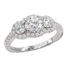 3 stone Diamond Ring  romance collection