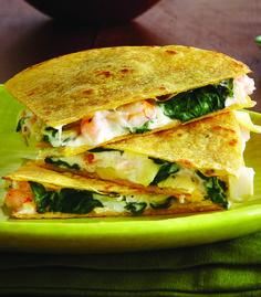 Shrimp & Artichoke Quesadillas - Clean Eating - Clean Eating