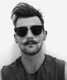 Men's hair. Mustache. Fashion. Hipster.