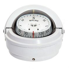 Ritchie S-87W Voyager Compass Surface Mount White S-87W