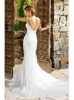 Ella Style 5477 silk beach wedding dresses
