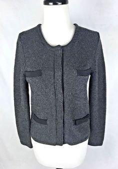J CREW Gray Wool Long Sleeve Sweater S   #JCrew #Cardigan #Work